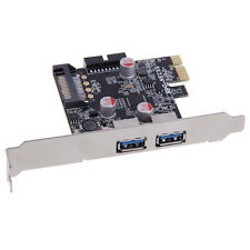 2-Port USB 3.0 PCI-E PCI Express Card Adapter 19-pin for XP Vista 5 Gbps Speed
