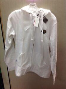 NFL Team Apparel Jacksonville Jaguars Women Zip Sweatshirt Large White