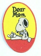 SNOOPY Dear Mom Embroidered sew-on Patch New 3 3//4/""