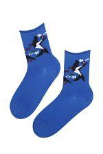 SWALLOW blue merino socks for women