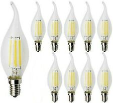 4W E14 Dimmable LED Filament Candle Bulb Flame Tip, Warm White 2700K C35- 9 Pack