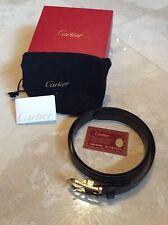 """santos de cartier mans leather belt with buckle <ne translation=""""$prodspec"""" entity=""""l5000419"""">$prodspec</ne>"""