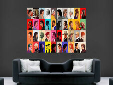 Film tv poster acteurs classic legends collage énorme large wall art