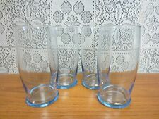 Set Of 4~Vintage LIBBEY Tumbler Glasses~With Blue Tint~12 oz