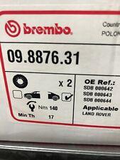 BREMBO Pair UV Coated Brake Discs 09.8876.31