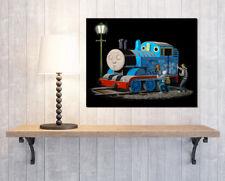 Banksy Thomas Tank Engine Graffiti Spray Paint Canvas Print Picture Wall Art