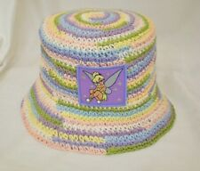 "Tinkerbell bucket Hat pastel colors woven Girls/ Womens 22.5 "" inside hat band"