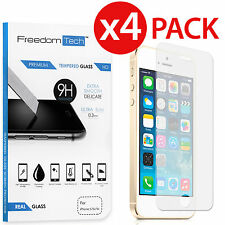 4-Pack HIGH QUALITY REAL TEMPERED GLASS SCREEN PROTECTOR FOR IPHONE 5S 5C 5 SE