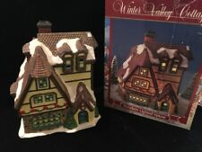 Winter Valley Cottage~Porcelain Lighted House~  Dollar General Store