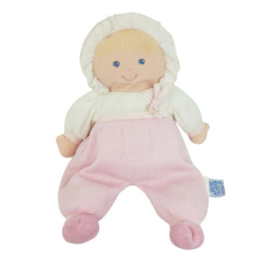 "11"" VINTAGE EDEN BABY DOLL GIRL PINK & WHITE THERMAL STUFFED ANIMAL PLUSH TOY"