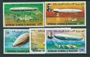 Mauretanien - Post Yvert 350/3 + A170/1 MNH Zeppelin