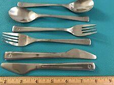 Lot of 6 Northwest Airlines Flatware 2 Each Spoons, Forks, Knives Emblem Front