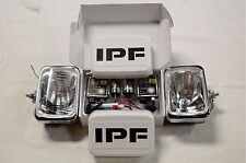 IPF 800 RECTANGLE HID 55W SPOT DRIVING LIGHT KIT + WIRING LOOM & CLEAR COVERS