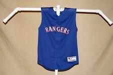 TEXAS RANGERS   sleeveless  mesh  JERSEY   Majestic    Youth  Large   NWT   blue