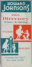 HOWARD JOHNSON'S MOTEL HOTEL LODGING DIRECTORY BROCHURE GUIDE 1965 VINTAGE