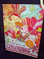 THE ART OF COLORING ADULT COLOR BOOK & FREE COLOR PENCILS (10 CT)