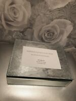 Beautiful Silver Glitter Jewellery Box With Photo Frame Trinket Box Shimmer 💜