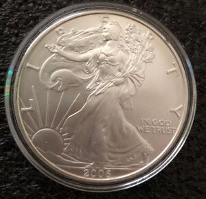 2006 Walking Liberty American Silver Eagle Dollar BU / Encapsulated 1OZ.999 FINE