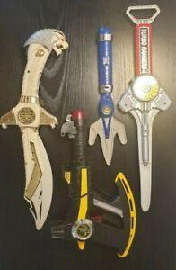 Vintage Power Rangers Weapons Axe Thermal Blaster Saba Sword Turbo Sword & Lance