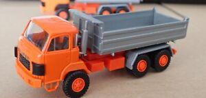 Roskopf RMM /All Swiss Models   SAURER D 330  3-achs Kipper   dunkelorange/silb