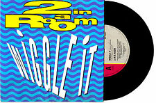 """2 IN A ROOM - WIGGLE IT / TAKE ME AWAY - 7"""" 45 VINYL RECORD PIC SLV 1990"""