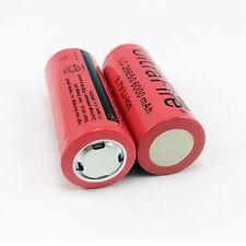 2Pcs 26650 3.7V 6000mah Li-ion Batería Recargable Linterna antorcha Reino Unido Co