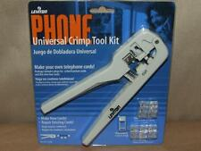 Leviton 830-C5890 Universal Phone Crimping Kit Tool 12 Cord Plugs Crimper New