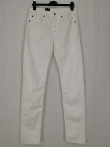 BNWT G-Star Raw 3301 Slim Jeans W-30 L-34 Rinsed Comfort Rilloh Pure White Denim