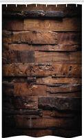 Schokolade Schmaler Duschvorhang, Raue Dunkle Holz