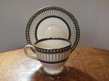 Wedgwood Black Colonnade bone china Leigh cup & saucer black mark  R4340