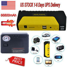 Car Jump Starter 68800mAh 12V Booster Power Bank Battery Air Compressor Inflator