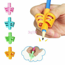 3Pcs 2/3-Finger Grip Silicone Baby Kid Pen Pencil Holder Help Learn Writing Tool