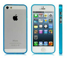 Funda Carcasa Alta Calidad iPhone 5 5S Bumper Azul Celeste
