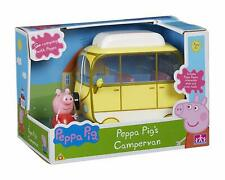 Peppa Pig Camper Van Toy Play Set (Push Along) Camping Vehicle Toy + Figure