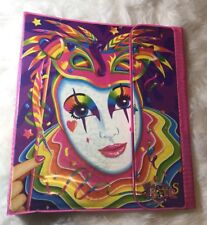 Vintage 90s Lisa Frank Mardi Gras Clown Character Trapper Keeper Binder RARE