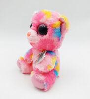 "6"" TY Beanie Boos Franky Pink Bear Giltter Eyes Plush Stuffed Toys Girls 2018"