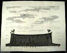 "o2713,Japanese Wood-block print ,Yuasa,World heritage Series""BYOUDOIN""."