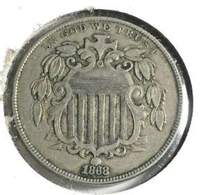 1868 Shield Nickel EF+