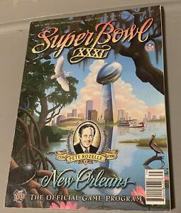 Supper Bowl XXXI Official Program
