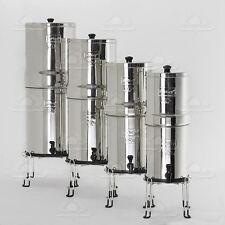 Big Berkey Stainless Water Purifier 4 Black Filters Sight Glass Spigot Stand New