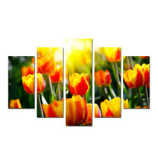 Tulips Flower Painting Canvas Print Poster Picture Wall Art Home Decor 5 Pieces
