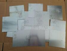 "New listing Lot of 15 Sheets .063 Aluminum Sheet Plate 12"" x 12"""