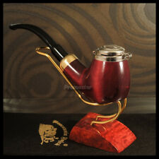 """Mr. Brog HAND MADE WOODEN SMOKING PIPE  no 21 Red  """" Old Army """" PEAR  + BOX"""