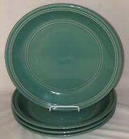 "4 Mainstays Stoneware*AQUA RAINFOREST* 10 1/2"" DINNER PLATES"
