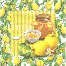 Lot de 4 Serviettes en papier Confiture de Citron Decoupage Collage Decopatch