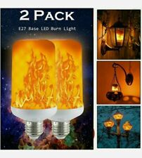 2 X LED Flame Effect Fire Light Bulb Flickering Lamp 5W E27 Halloween Decorative