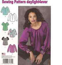 Women Blouse Top Sewing Pattern 1315 New Size 14-22 Pleated Neckline #z
