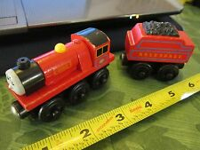 Thomas & Friends Wooden Railway Engine wood Mike Arlesdale Tender Red coal car
