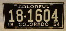 1954 Colorado License Plate