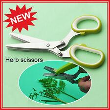 5 Blades Scissors Vegetable Chopper Paper Shredder cutting Knife kitchen Herb